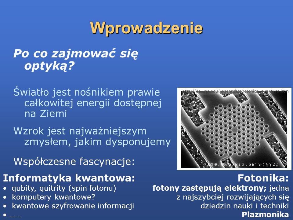 Trzy sposoby myślenia o świetle: promienie; optyka geometryczna promienie; optyka geometryczna fale; elektromagnetyzm fale; elektromagnetyzm cząstki: fotony; fizyka kwantów cząstki: fotony; fizyka kwantów