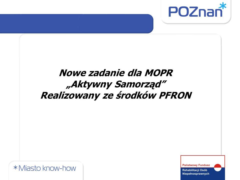 Pilotażowy program Aktywny samorząd Uchwała nr 3/2012 Rady Nadzorczej PFRON z dnia 28 marca 2012 r.