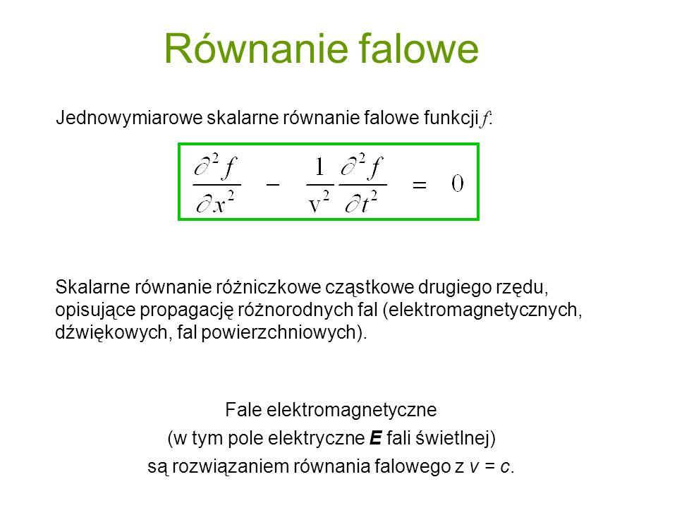 gdzie f (u) może być dowolną funkcąj podwójnie różniczkowalną.