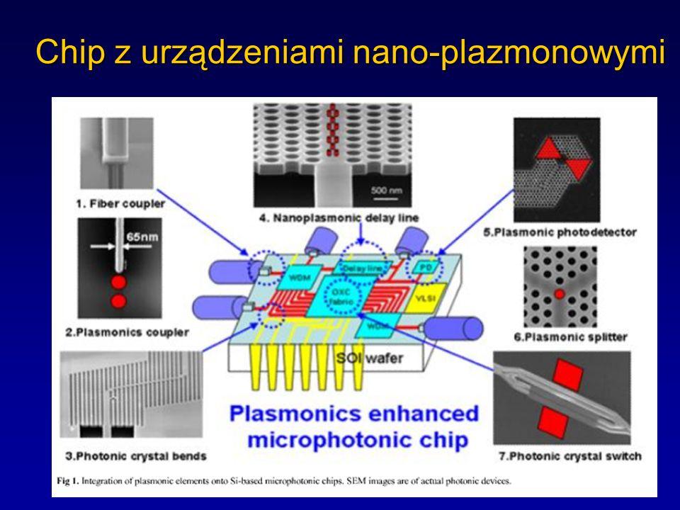 Plazmony pozwalają zogniskować i skoncentrować energię fali świetlnej w nanoskali w dwóch i trzech wymiarach bez dużych strat. Przykład: wzbudzenie pl