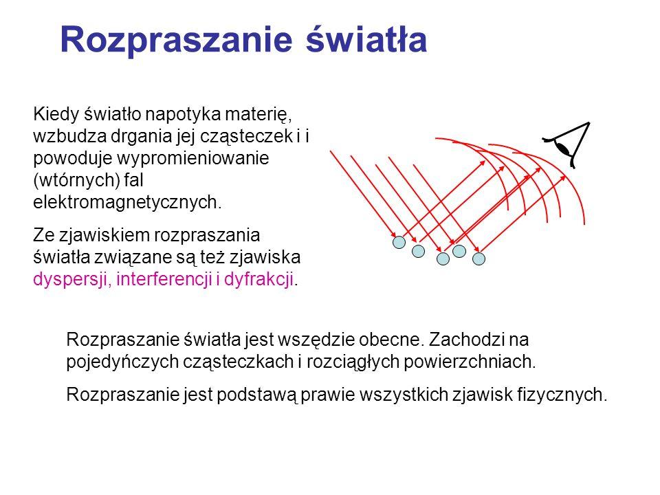 Równania Maxwella z warunkami brzegowymi na powierzchni kuli pole elektromagnetyczne fali płaskiej padające na cząstkę, pole rozproszone na kulce (na zewnątrz kulki) - poszukiwane pole załamane w jej wnętrzu.