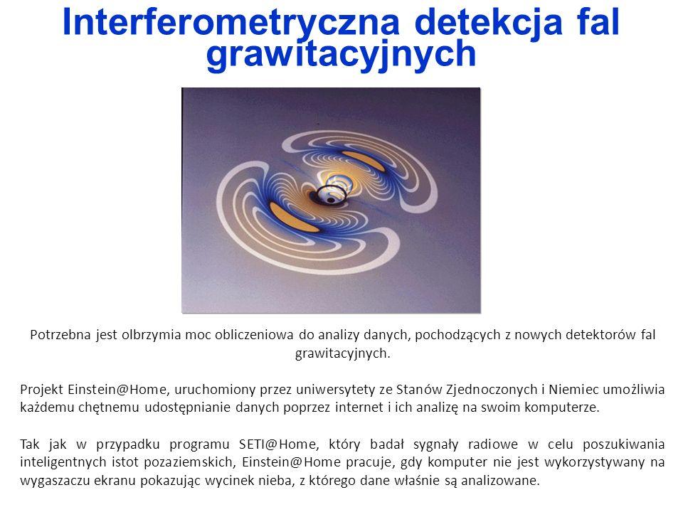 Potrzebna jest olbrzymia moc obliczeniowa do analizy danych, pochodzących z nowych detektorów fal grawitacyjnych. Projekt Einstein@Home, uruchomiony p