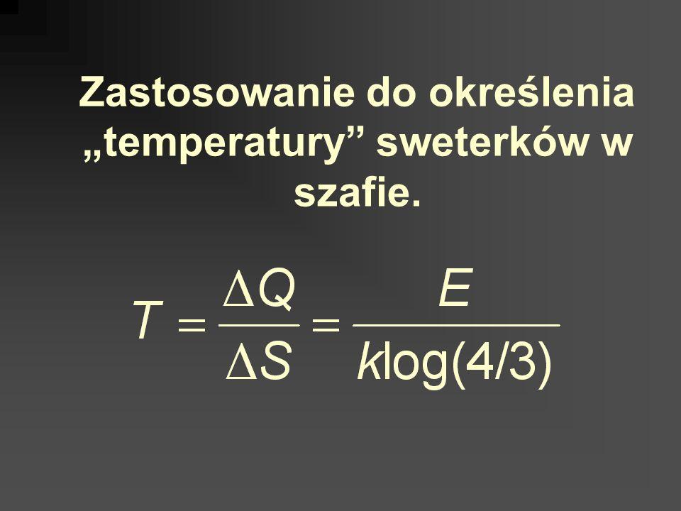 Zastosowanie do określenia temperatury sweterków w szafie.