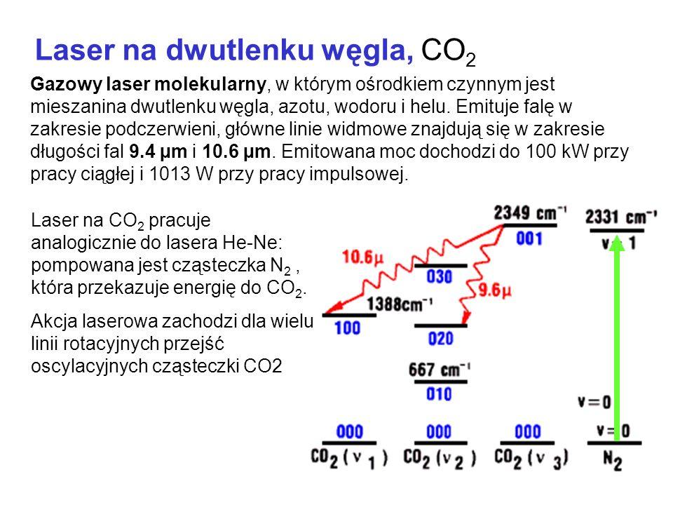 Laser na dwutlenku węgla, CO 2 Gazowy laser molekularny, w którym ośrodkiem czynnym jest mieszanina dwutlenku węgla, azotu, wodoru i helu.