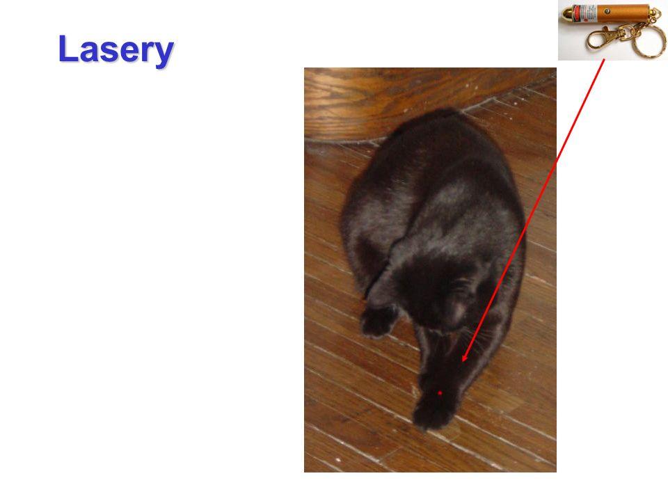 Akcja laserowa: warunki Akcję laserową można otrzymać tylko wtedy, jeżeli w ośrodku czynnym (kosztem energii wpompowanej w układ) wytworzymy stan inwersji obsadzeń, czyli jeśli N 2 > N 1.