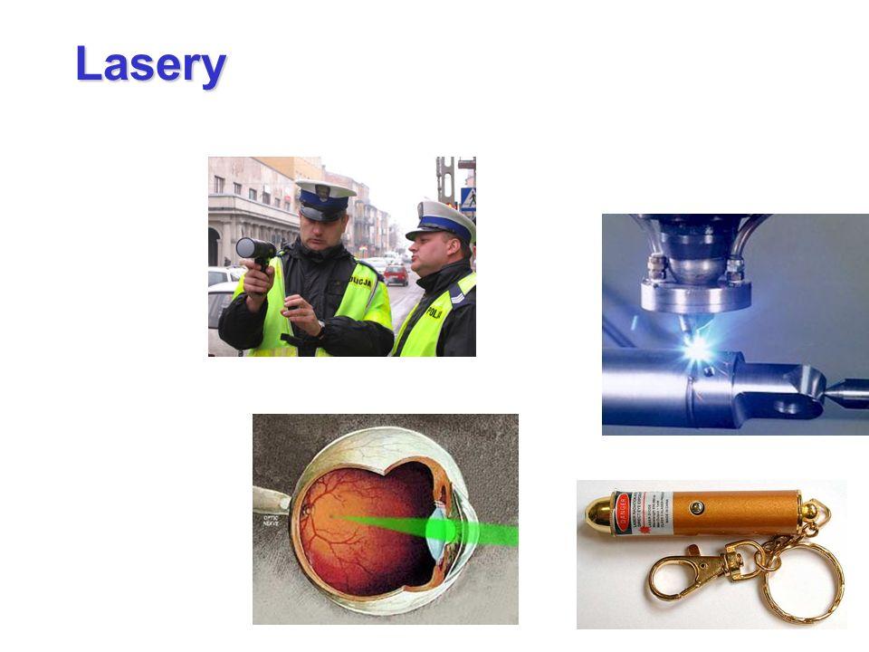 Lasery Laser LA Light Amplification by SER Stimulated Emission of Radiation