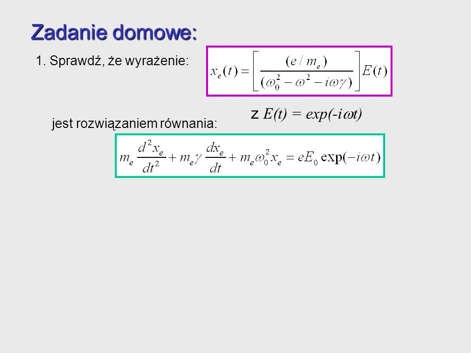 Jak w języku funkcji dielektrycznej i zespolonego współczynnika załamania opisać własności optyczne metali.