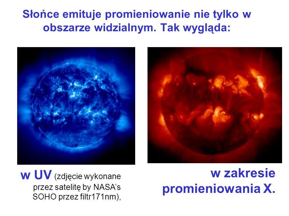 Słońce emituje promieniowanie nie tylko w obszarze widzialnym. Tak wygląda: w UV (zdjęcie wykonane przez satelitę by NASAs SOHO przez filtr171nm), w z
