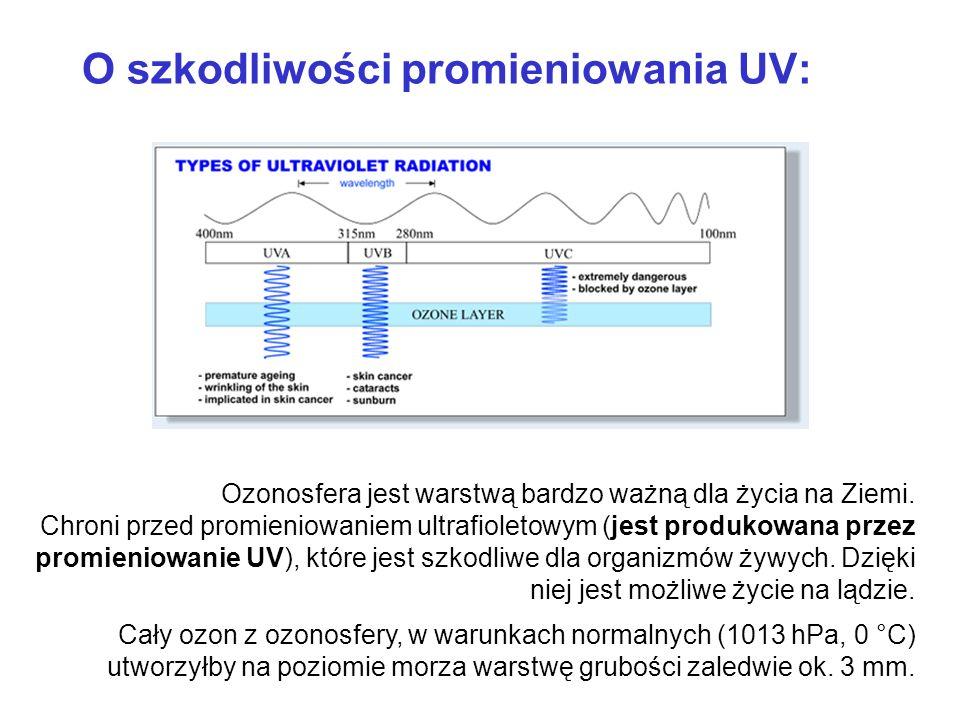 Ozonosfera jest warstwą bardzo ważną dla życia na Ziemi. Chroni przed promieniowaniem ultrafioletowym (jest produkowana przez promieniowanie UV), któr