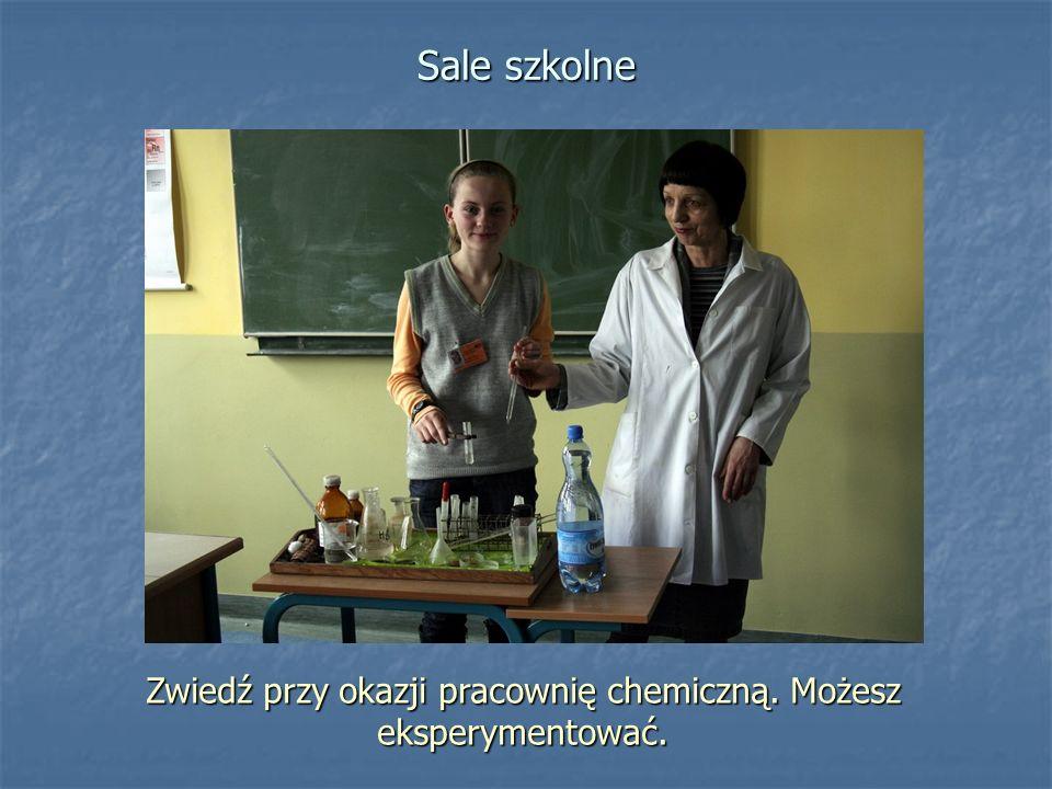 Zwiedź przy okazji pracownię chemiczną. Możesz eksperymentować.