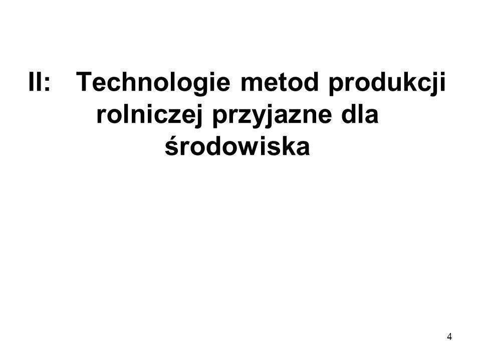 4 II:Technologie metod produkcji rolniczej przyjazne dla środowiska