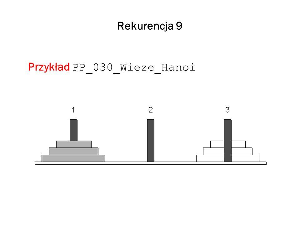 Rekurencja 9 Przykład PP_030_Wieze_Hanoi