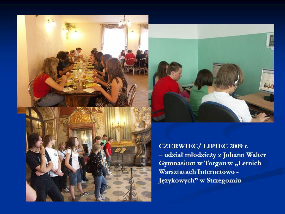 CZERWIEC 2008 r. - wizyta przedstawicieli Ochotniczych Straży Pożarnych w Strzegomiu w Torgau