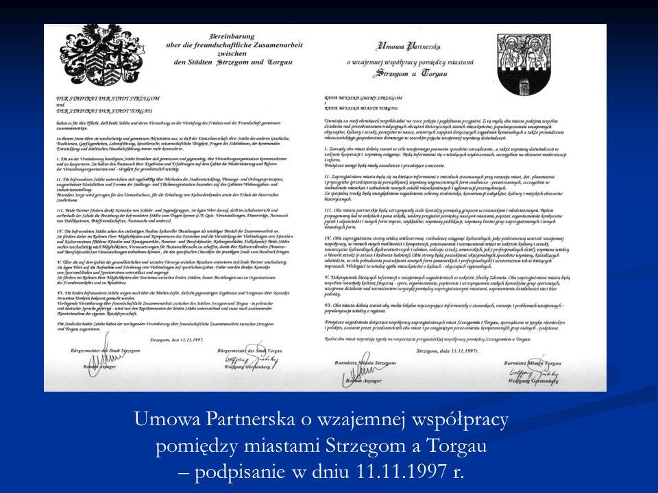 15–lecie współpracy miast partnerskich STRZEGOM – TORGAU 1997 - 2012