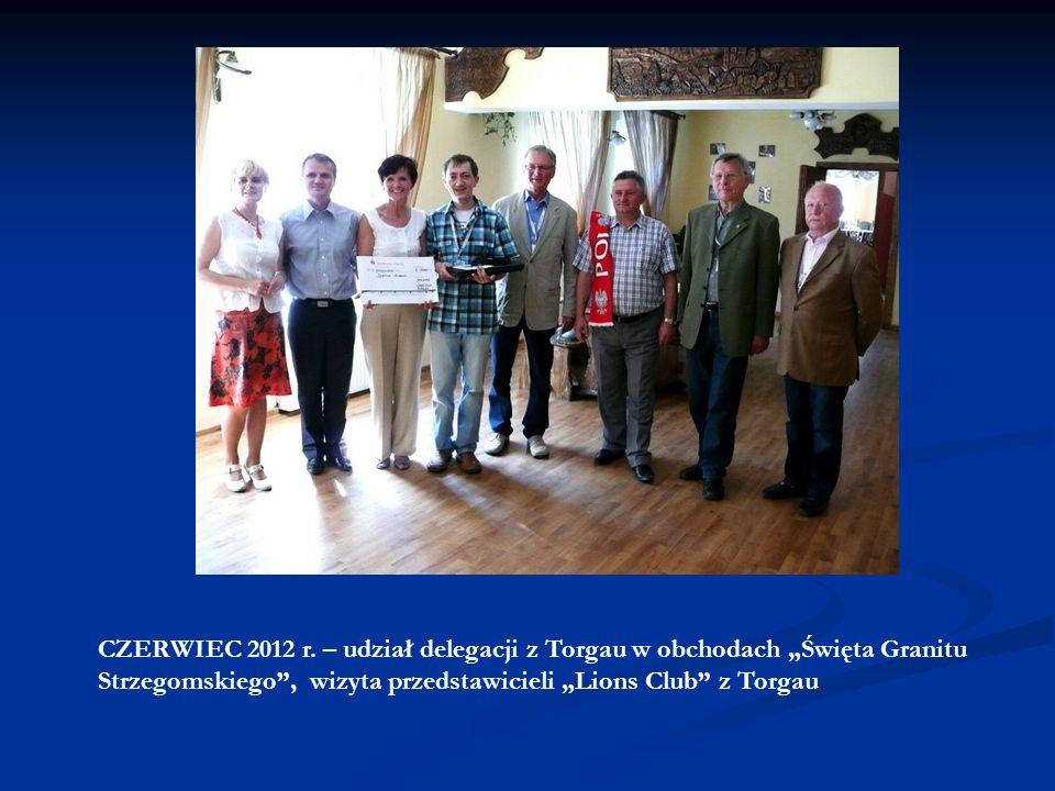 KWIECIEŃ 2012 r. – udział delegacji ze Strzegomia w obchodach Elbe Day, wraz z zespołem muzycznym ELJOT