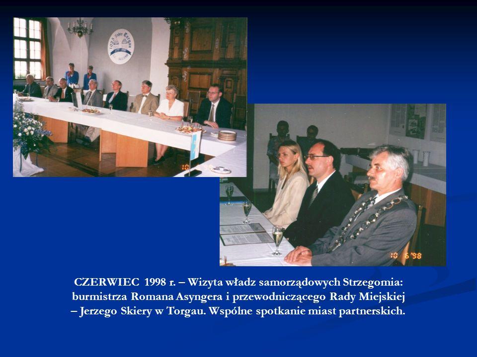 W trakcie 15-letniej współpracy między Strzegomiem a Torgau działaliśmy na wielu polach: - KULTURY (występy zespołów muzycznych na Elbe Day w Torgau,