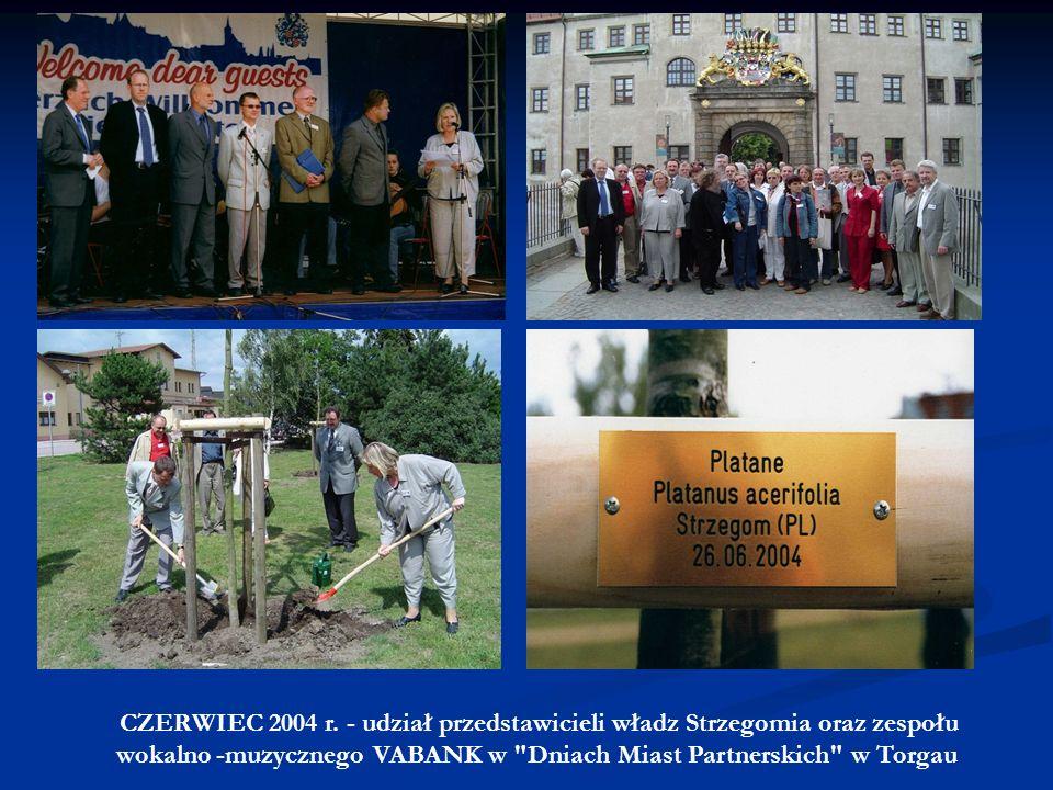 MARZEC 2002 r. – Wizyta władz Torgau na czele z burmistrz Andreą Staude, omówienie współpracy kulturalno-oświatowej