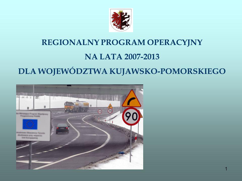 1 REGIONALNY PROGRAM OPERACYJNY NA LATA 2007-2013 DLA WOJEWÓDZTWA KUJAWSKO-POMORSKIEGO