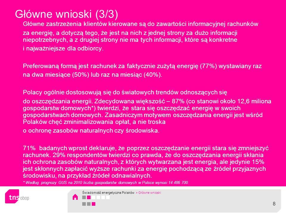 Dopłacanie do energii ze źródeł odnawialnych Opinie polskich odbiorców są w dużym stopniu kształtowane przez czynniki finansowe, czyli chęć płacenia jak najmniej za energię elektryczną.