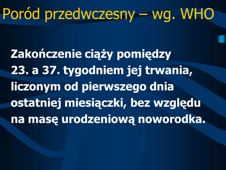 Glikokortykosteroidy- wskazania Zagrażający poród przedwczesna między 25.