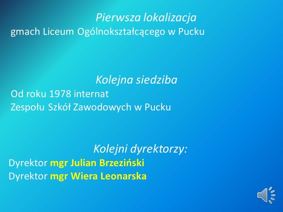 Powołanie do istnienia Orzeczenie organizacyjne dnia 1 września 1971 r. wydane przez inspektora miejsko – gminnego Wydziału Oświaty i Wychowania w Puc