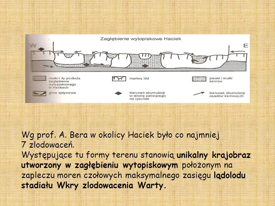 Wg prof.A. Bera w okolicy Haciek było co najmniej 7 zlodowaceń.