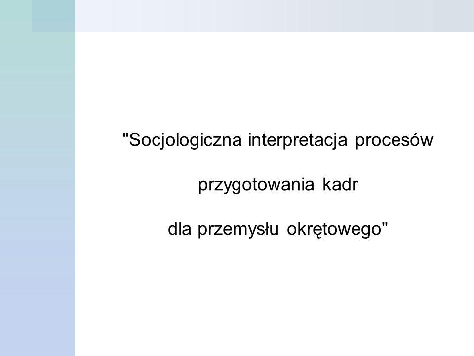 Socjologiczna interpretacja procesów przygotowania kadr dla przemysłu okrętowego