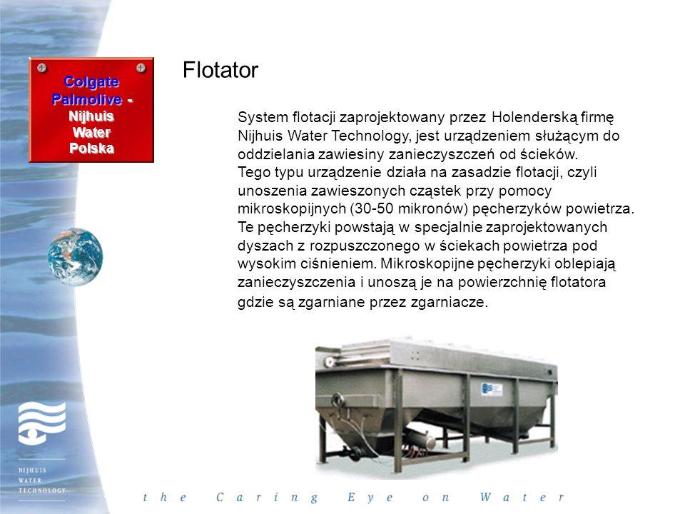 Colgate Palmolive - Nijhuis WaterPolska Flotator System flotacji zaprojektowany przez Holenderską firmę Nijhuis Water Technology, jest urządzeniem słu