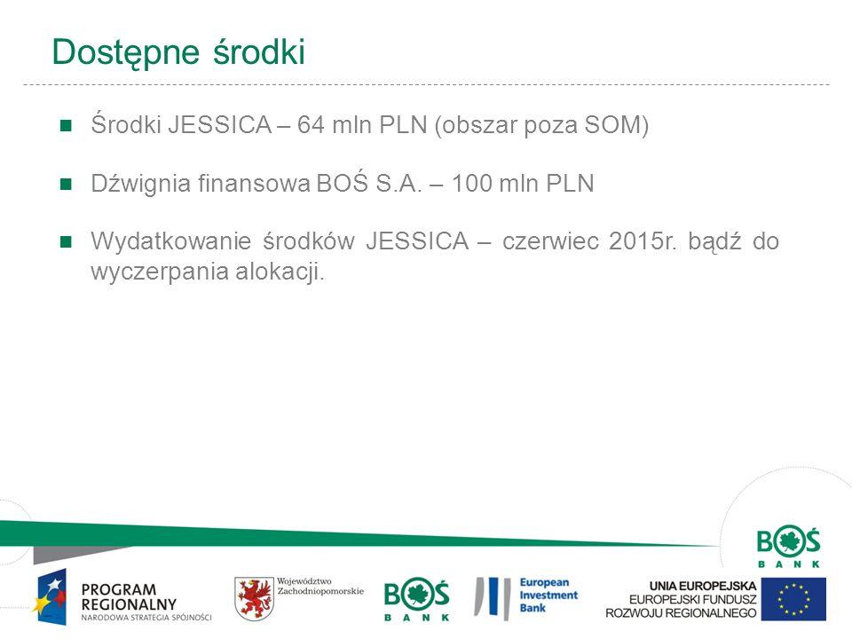 10 Dostępne środki Środki JESSICA – 64 mln PLN (obszar poza SOM) Dźwignia finansowa BOŚ S.A. – 100 mln PLN Wydatkowanie środków JESSICA – czerwiec 201