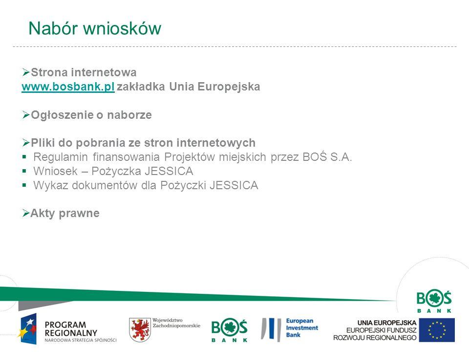 14 Nabór wniosków Strona internetowa www.bosbank.plwww.bosbank.pl zakładka Unia Europejska Ogłoszenie o naborze Pliki do pobrania ze stron internetowy