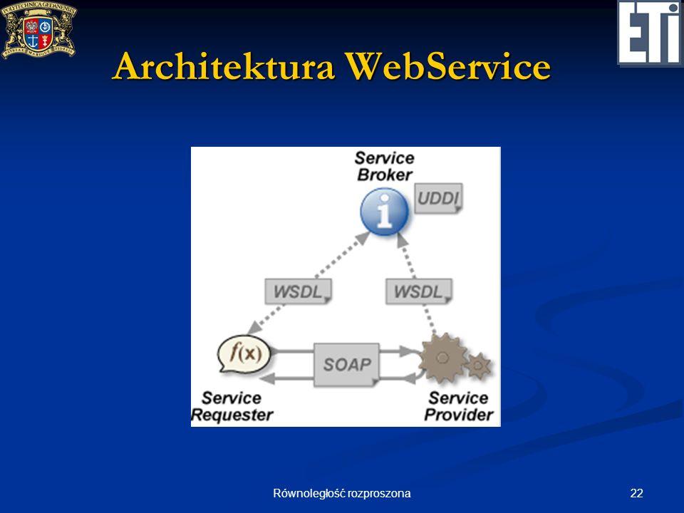 22Równoległość rozproszona Architektura WebService