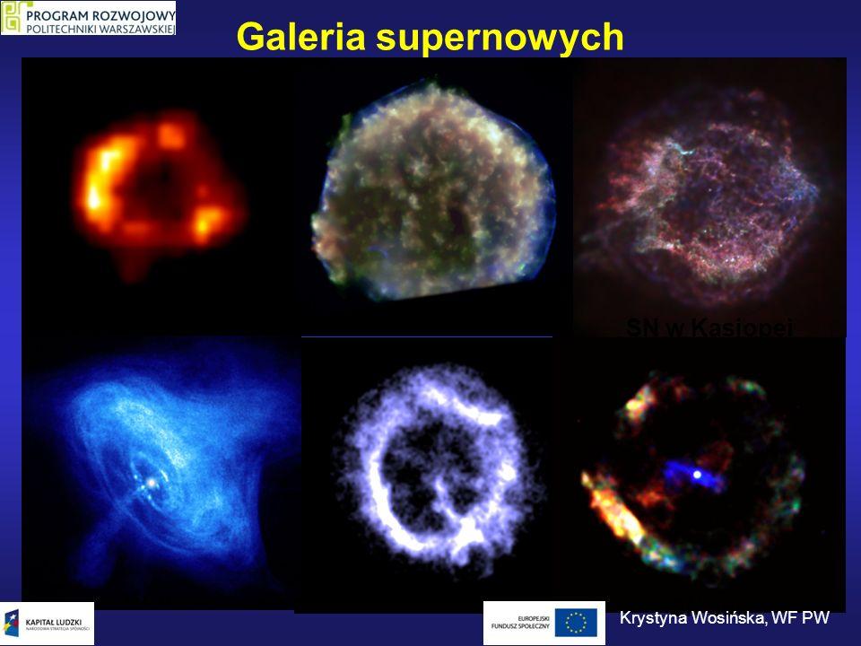 Galeria supernowych SN 1987 SN 1572 SN w Kasjopei Krab SN 386 Krystyna Wosińska, WF PW