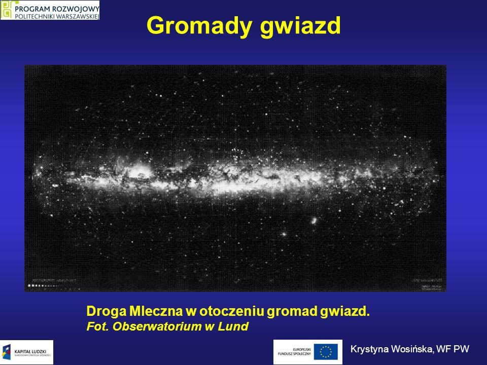 Gromady gwiazd Droga Mleczna w otoczeniu gromad gwiazd. Fot. Obserwatorium w Lund Krystyna Wosińska, WF PW