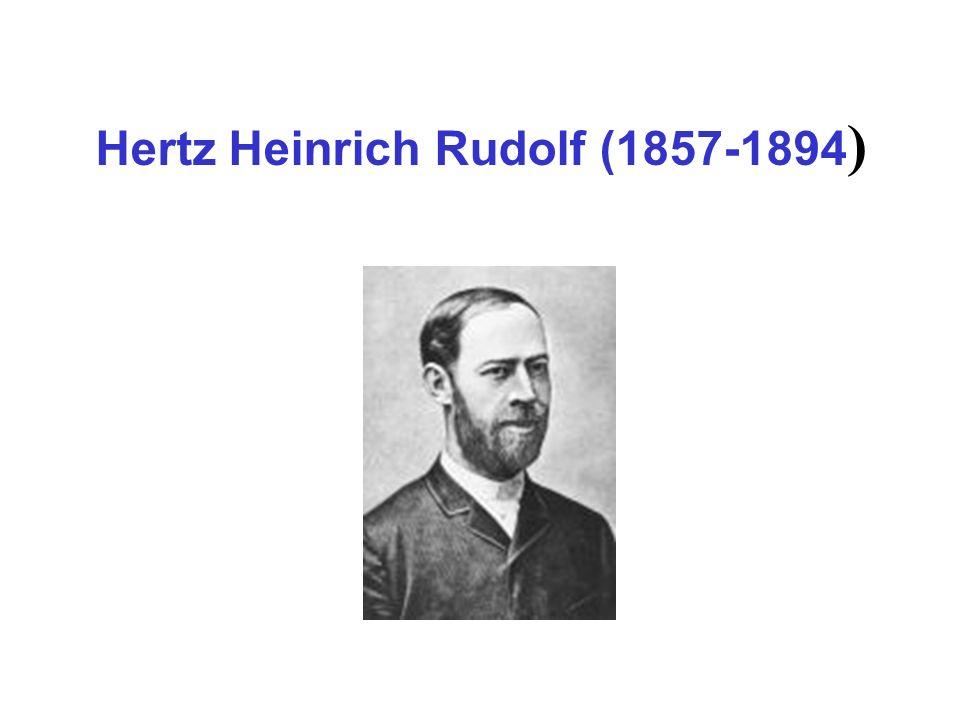 Hertz Heinrich Rudolf (1857-1894 )