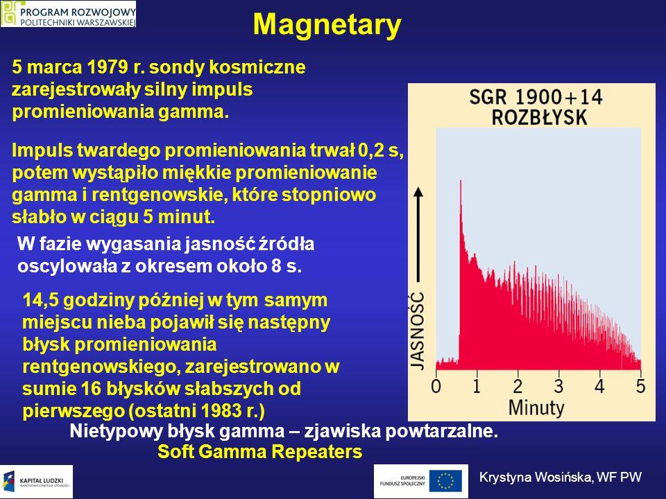 Magnetary 5 marca 1979 r. sondy kosmiczne zarejestrowały silny impuls promieniowania gamma. Impuls twardego promieniowania trwał 0,2 s, potem wystąpił