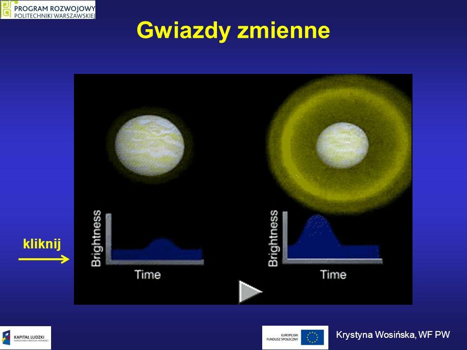 Gwiazdy zmienne Krystyna Wosińska, WF PW kliknij