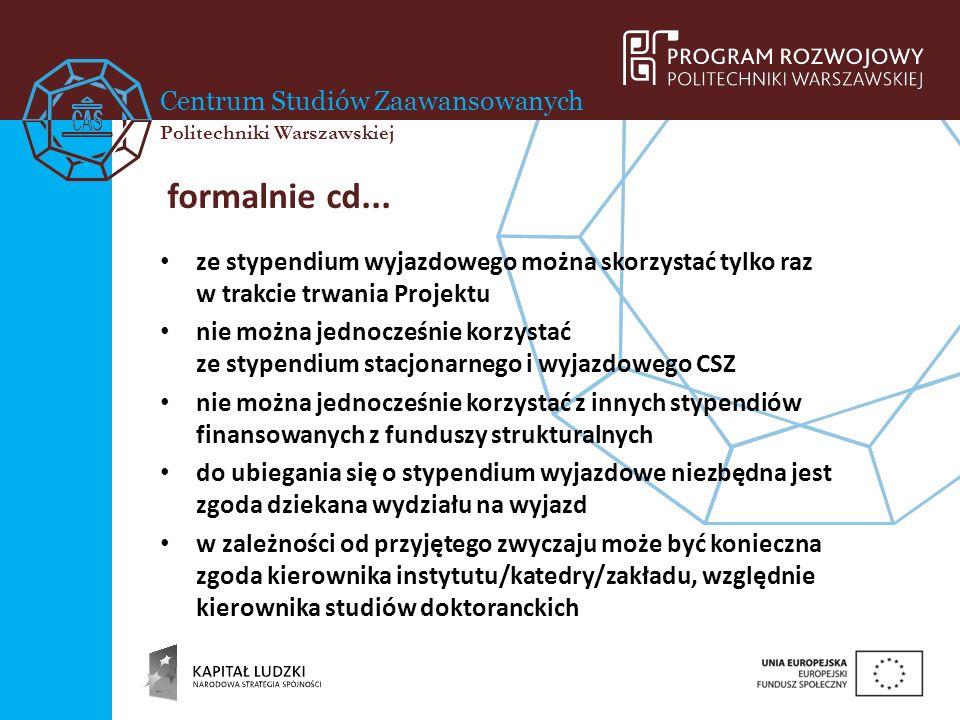 Centrum Studiów Zaawansowanych Politechniki Warszawskiej w praktyce...