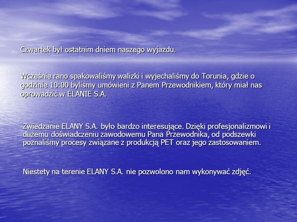 Elana S.A.jest jedynym polskim producentem włókien poliestrowych i polimeru butelkowego.