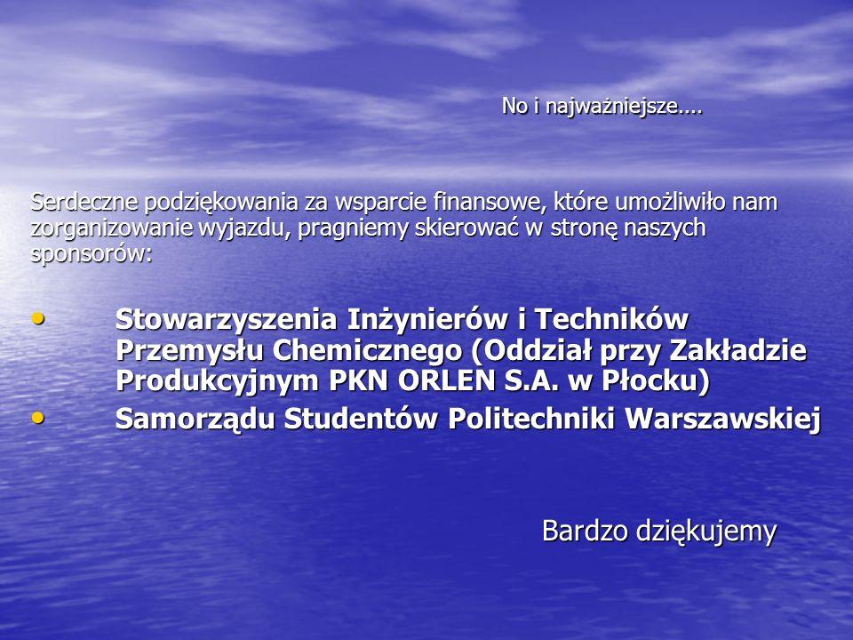 PŁOCKIE NAUKOWE KOŁO CHEMIKÓW Instytut Chemii Politechniki Warszawskiej Instytut Chemii Politechniki Warszawskiej Wydział Budownictwa, Mechaniki i Petrochemii ul.