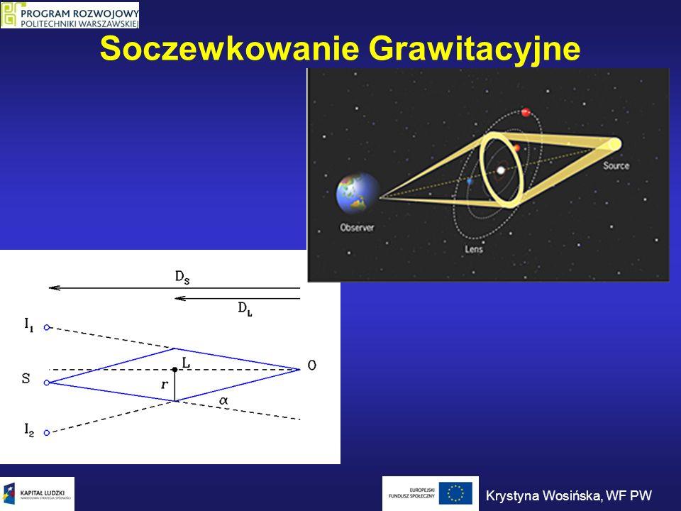 Soczewkowanie Grawitacyjne Krystyna Wosińska, WF PW