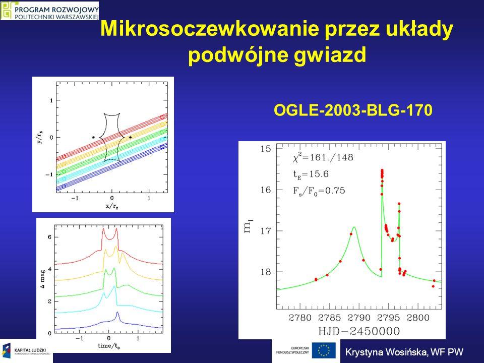 Mikrosoczewkowanie przez układy podwójne gwiazd OGLE-2003-BLG-170 Krystyna Wosińska, WF PW
