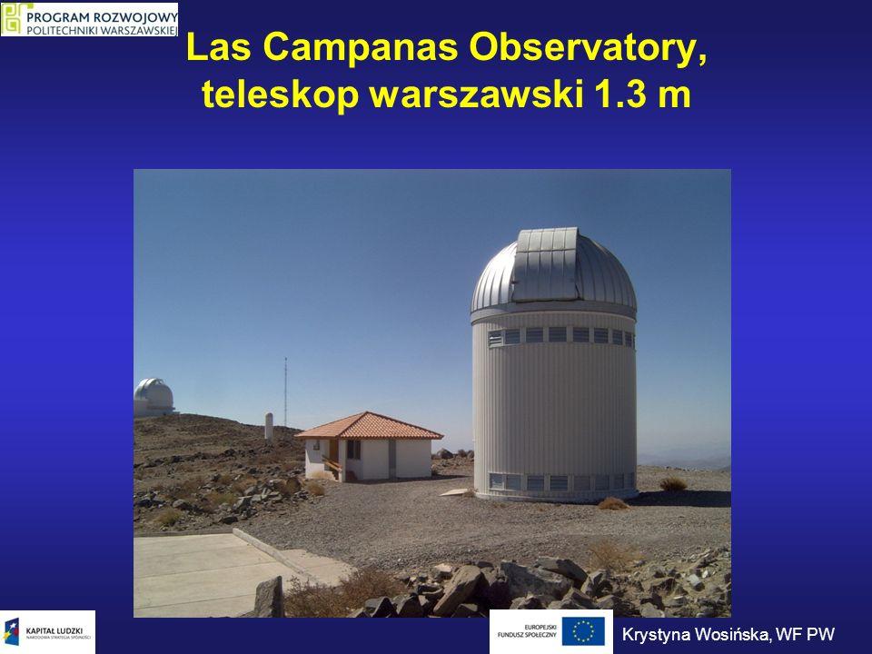 Las Campanas Observatory, teleskop warszawski 1.3 m Krystyna Wosińska, WF PW