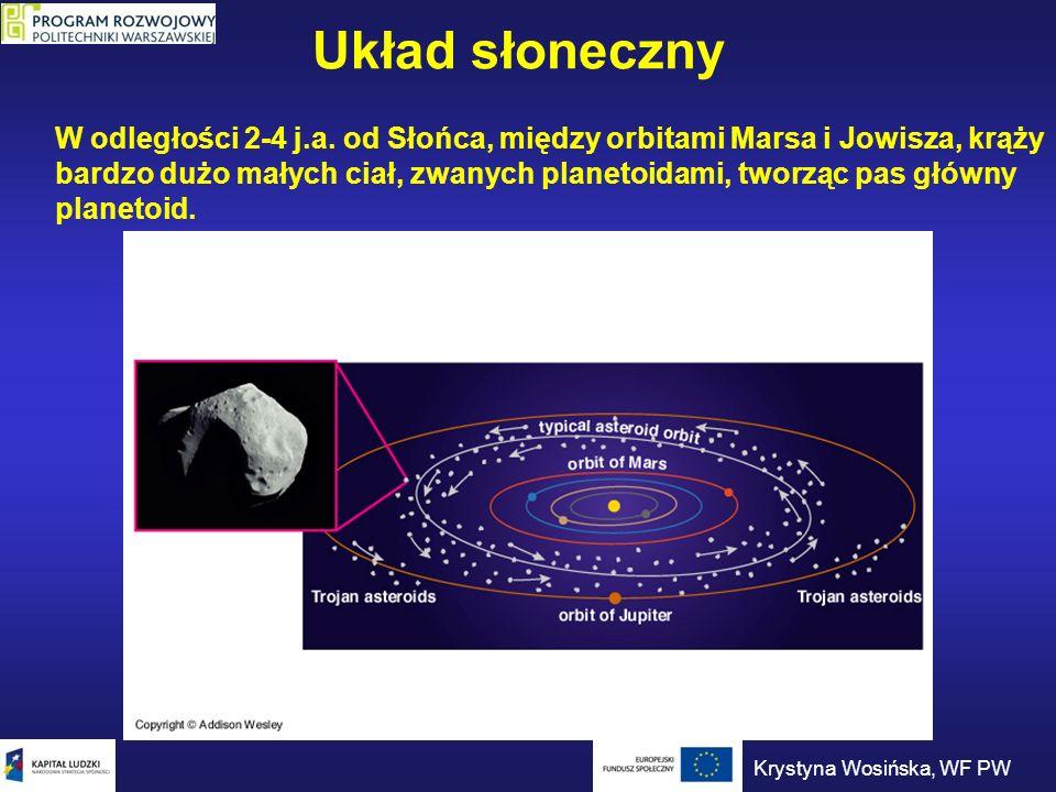 Astrometria Wielkość obserwowana: ruch gwiazdy w płaszczyźnie nieba. Krystyna Wosińska, WF PW