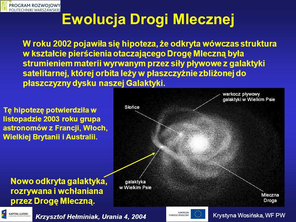Ewolucja Drogi Mlecznej W roku 2002 pojawiła się hipoteza, że odkryta wówczas struktura w kształcie pierścienia otaczającego Drogę Mleczną była strumi