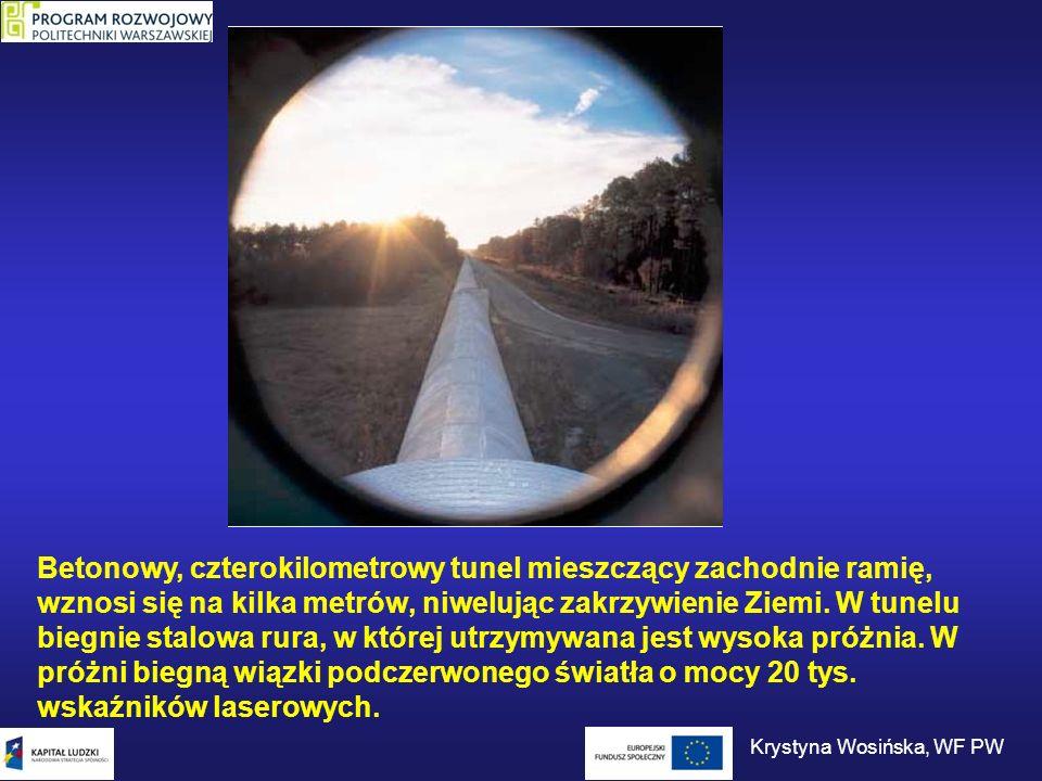Betonowy, czterokilometrowy tunel mieszczący zachodnie ramię, wznosi się na kilka metrów, niwelując zakrzywienie Ziemi. W tunelu biegnie stalowa rura,
