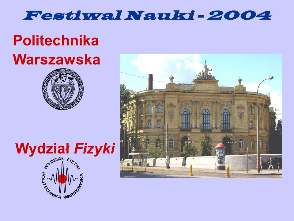 Politechnika Warszawska Wydział Fizyki Festiwal Nauki - 2004