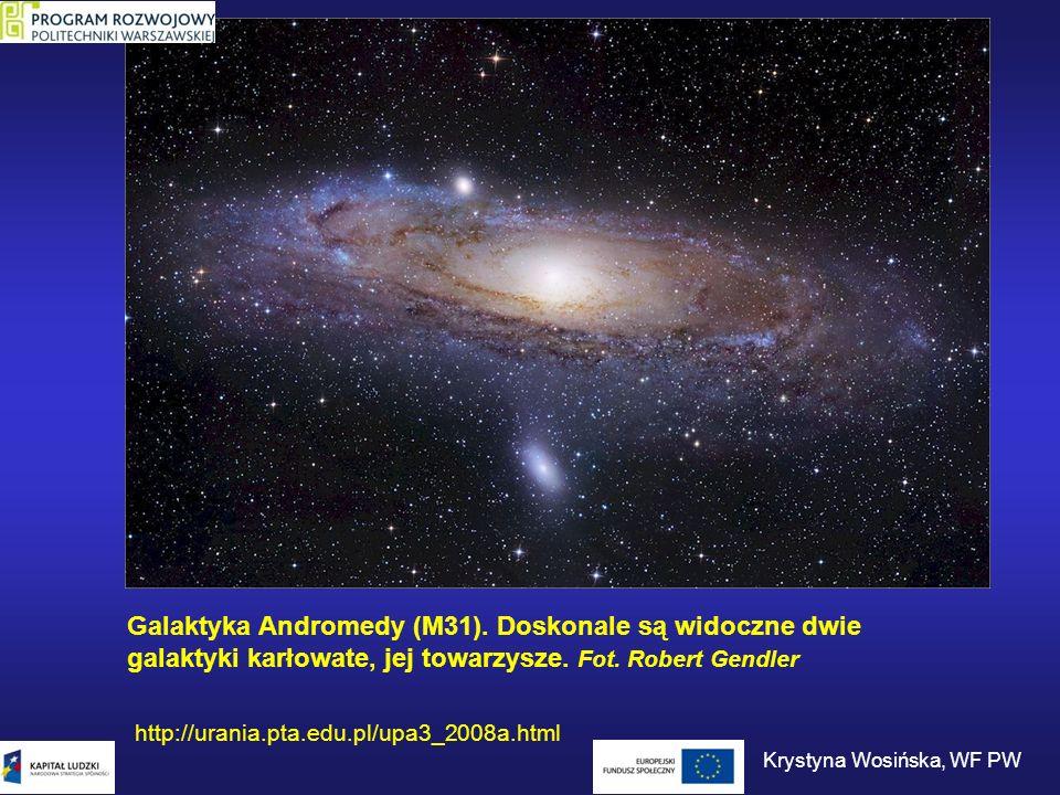 Galaktyka Andromedy (M31). Doskonale są widoczne dwie galaktyki karłowate, jej towarzysze. Fot. Robert Gendler http://urania.pta.edu.pl/upa3_2008a.htm