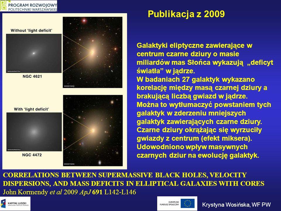 CORRELATIONS BETWEEN SUPERMASSIVE BLACK HOLES, VELOCITY DISPERSIONS, AND MASS DEFICITS IN ELLIPTICAL GALAXIES WITH CORES John Kormendy et al 2009 ApJ