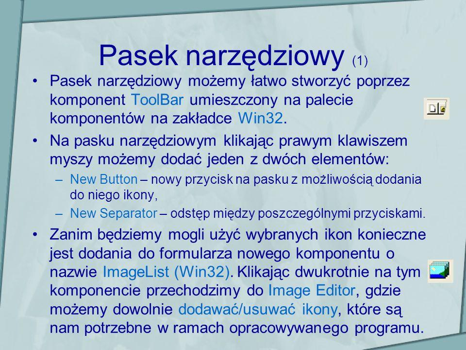 Ćwiczenia (2) Proszę napisać kod dla tworzenia nowego pliku.