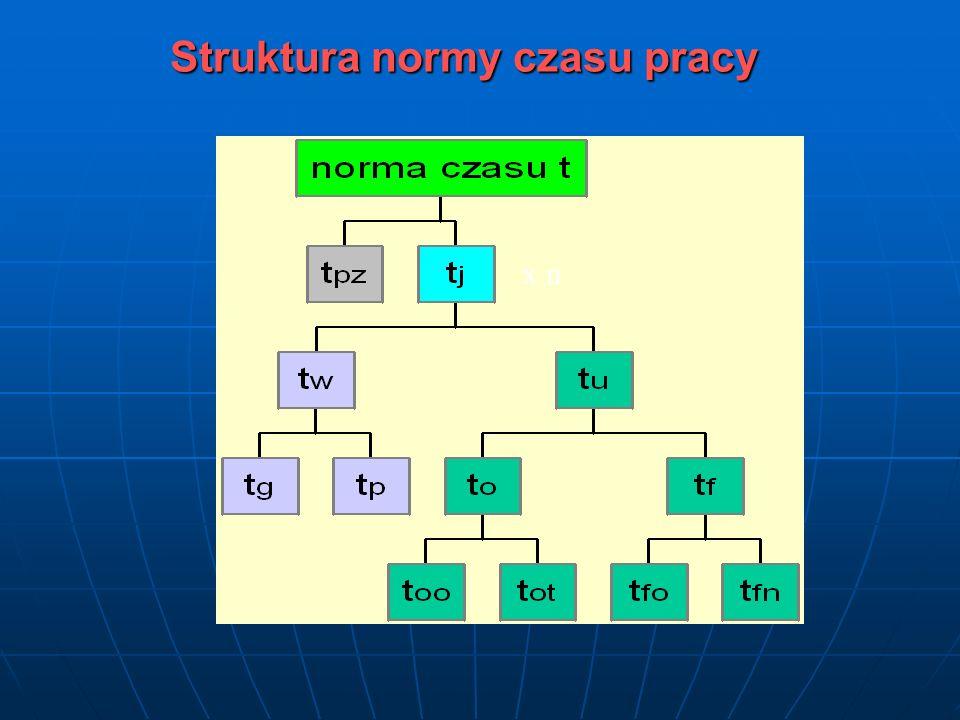 Struktura normy czasu pracy x n